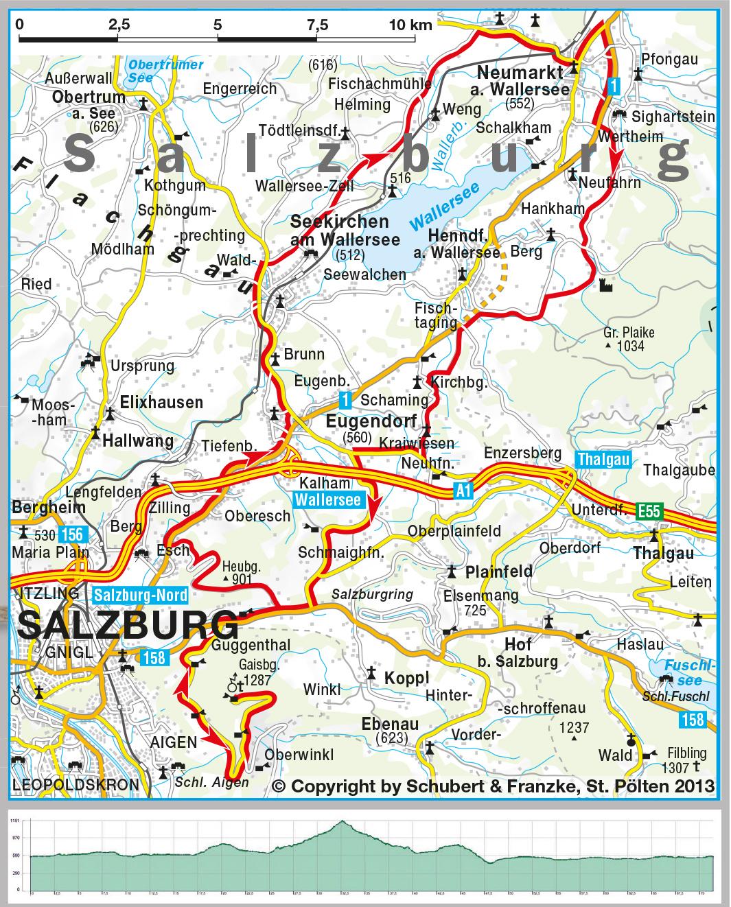 Tour 18 Gaisberg Seenland round