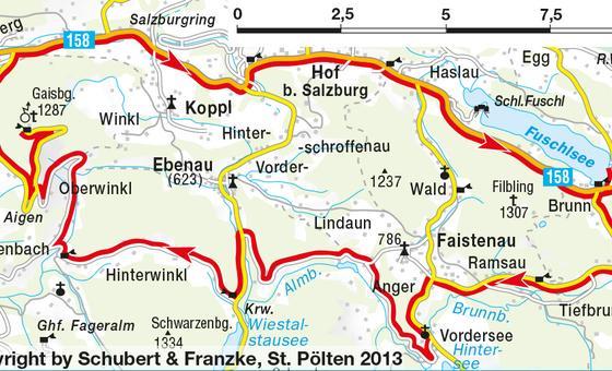 Road bike routes through Austria the Alps