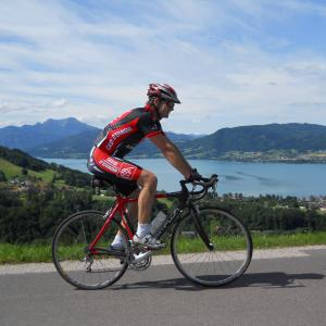 road biking lake attersee